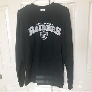 Raiders Men's Long Sleeve Shirt Sz Medium